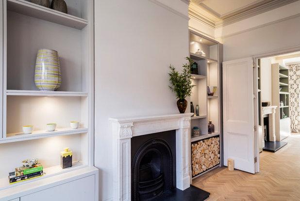 Victorian Living Room by LLI Design