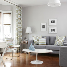 Transitional Living Room by Jo Alcorn