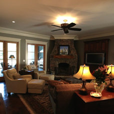 Craftsman Family Room by Bob Chatham Custom Home Design