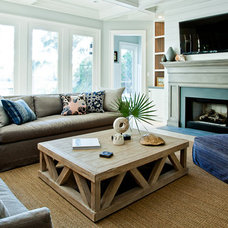 Contemporary Living Room by Hostetler Custom Cabinetry