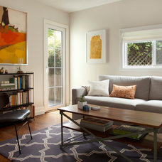 Transitional Living Room by Margot Hartford Photography