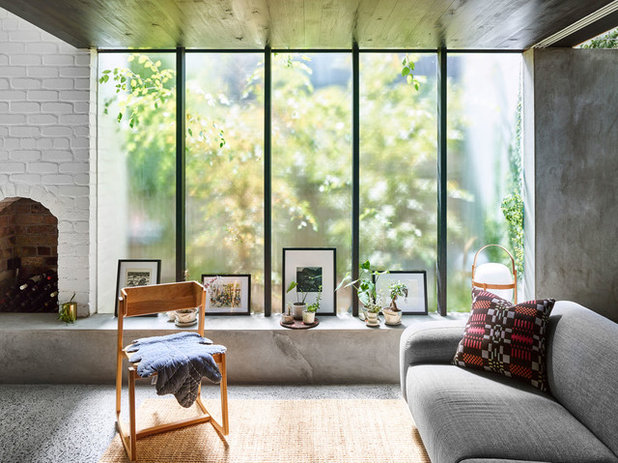 Modern Living Room by JOHN ELLWAY. ARCHITECT