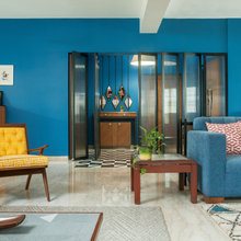 A Mumbai Flat Celebrates Colour & Upcycled Vintage Furniture