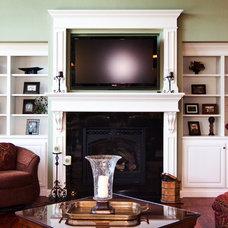 Traditional Living Room by Noah Herman Sons Builders