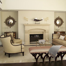 Traditional Living Room by Nina sobiNina Design