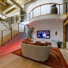 Industrial Living Room by 186 Lighting Design Group - Gregg Mackell