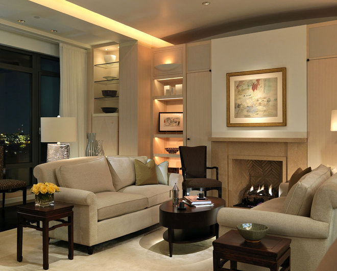 Contemporary Living Room by Woodmeister Master Builders