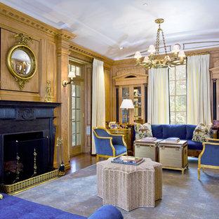 Living room - traditional living room idea in Boston
