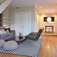 Contemporary Living Room by Katya Popova