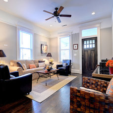 Traditional Living Room by Round Here Renovations, LLC