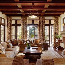 Mediterranean Living Room by Alderson Construction