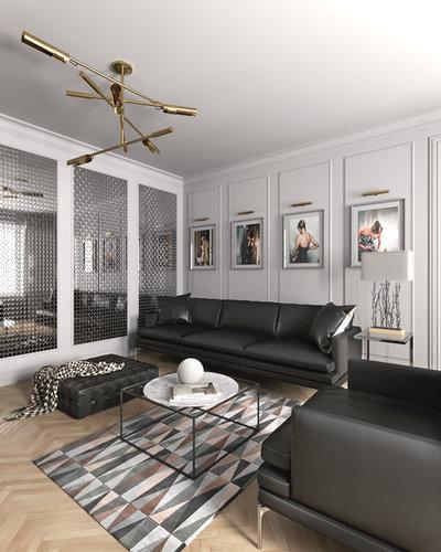 Scandinavian Living Room by Aleks.K design & visualization