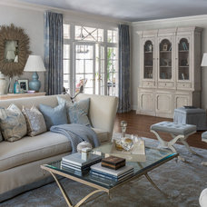 Transitional Living Room by Kate Singer Home