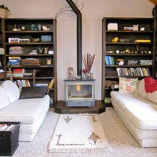 Eclectic Living Room Living Room & Bookshelves