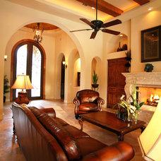 Mediterranean Living Room by Asomoza Homes - Design Build