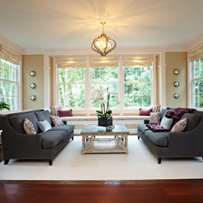 Traditional Living Room by Richmond Hill Interiors, llc