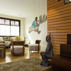 Asian Living Room by Andre Rothblatt Architecture