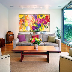modern living room by Andrew Snow Photography