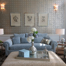 Traditional Living Room by Anne Tarasoff Interiors