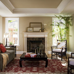 traditional living room by Arch Studio, Inc.