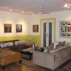 Tropical Living Room Living room art gallery