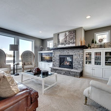 Transitional Living Room by Gonyea Homes & Remodeling