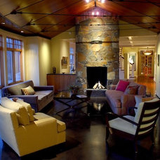 Contemporary Living Room by Baker Court Interiors