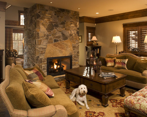 Center Fireplace Home Design Ideas Pictures Remodel And
