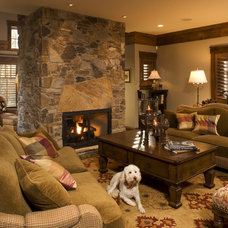 Rustic Living Room by Baker Court Interiors