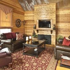Modern Living Room by Beard + Riser Architects