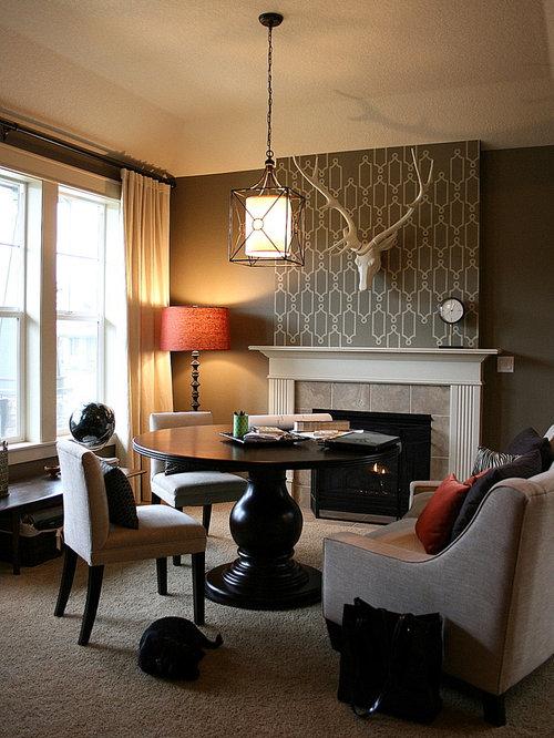 Wallpaper Designs For Living Room: Living Room Wallpaper Home Design Ideas, Pictures, Remodel