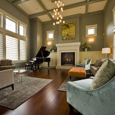Transitional Living Room by Begrand Fast Design Inc.