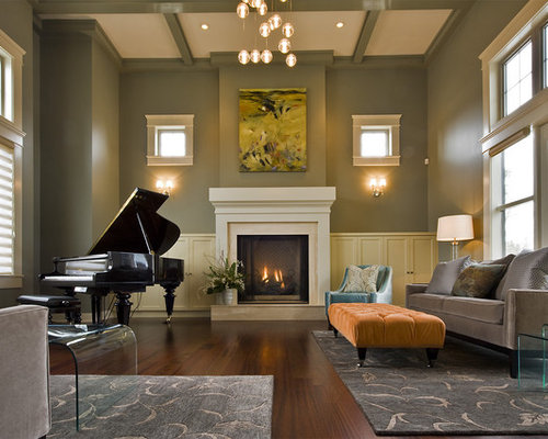 Decorating a piano room houzz - Piano for small space decoration ...