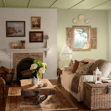 Rustic Living Room by BEHR®