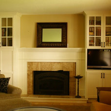 Traditional Living Room by Bergstrom Cabinets