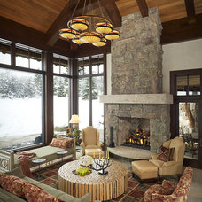 rustic living room by Billy Beson Company