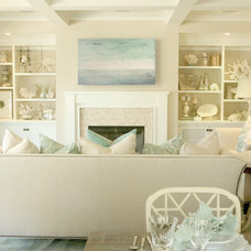 Beach Style Living Room by Bliss Design Firm