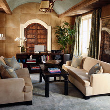 Mediterranean Living Room by Bliss Design Firm