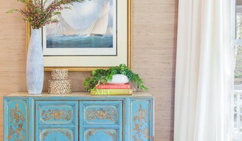 Living Room Blue Cabinet