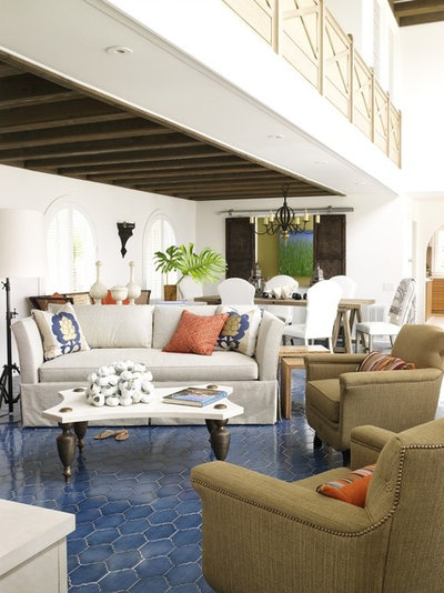 Contemporary Living Room by Blue Tangerine Art