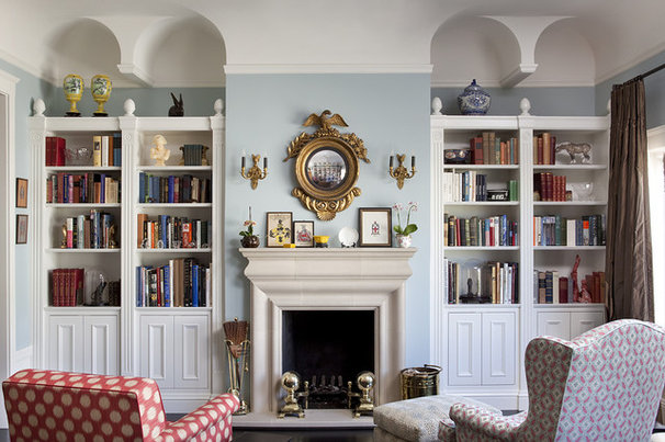 Eclectic Living Room by Thomas Rex Hardy, AIA
