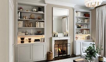 Living room / bookshelves