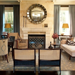 Inspiration for a timeless formal living room remodel in Atlanta with a standard fireplace