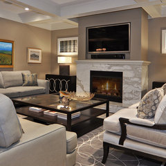 contemporary living room by Bruce Johnson & Associates Interior Design