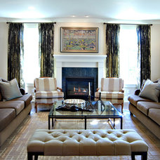 Traditional Living Room by Bruce Johnson & Associates Interior Design