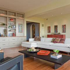 contemporary living room by David Sharff Architect, P.C.