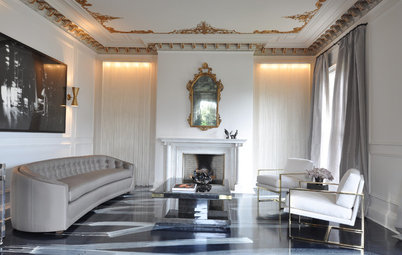 Stencil Your Ceiling for a Luxurious Look