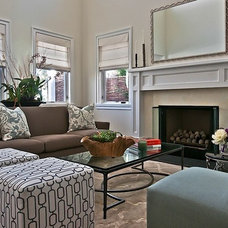 Transitional Living Room by The Black Door