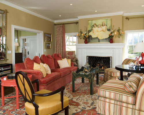 Red And Gold Living Room Ideas Pictures Remodel And Decor