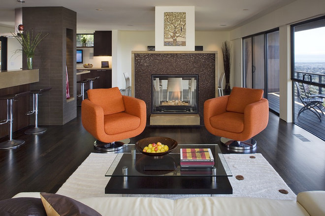 Contemporary Living Room by Camber Construction